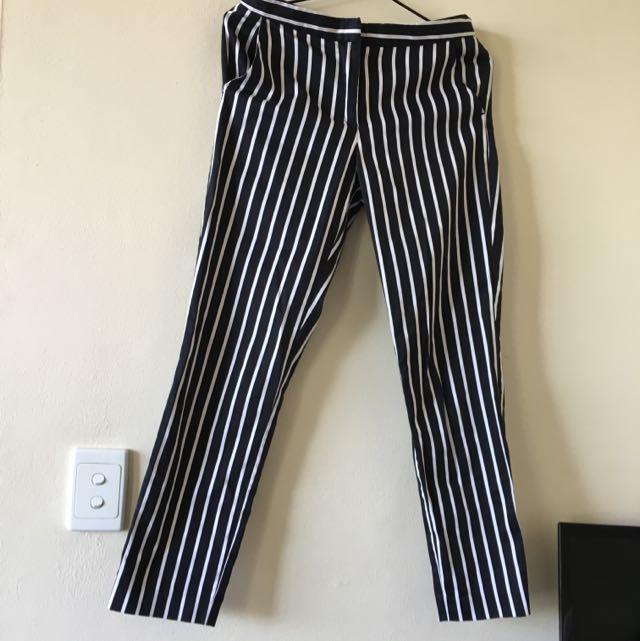 Sportsgirl Stripe 3/4 Pants