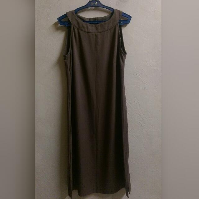 Stefanel Italy Nude Dress