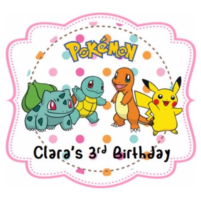Sticker Label - Pokemon