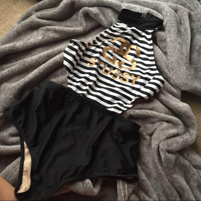 Stussy Striped Swimsuit