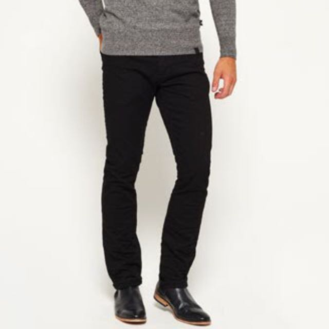 SuperDry Slim Denim Jeans - black Ink - Size 34
