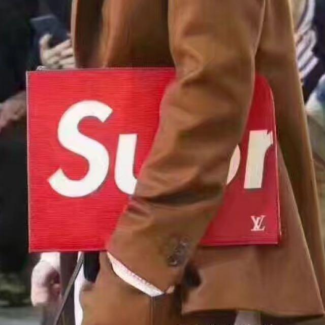 Supreme x LV zip satchel