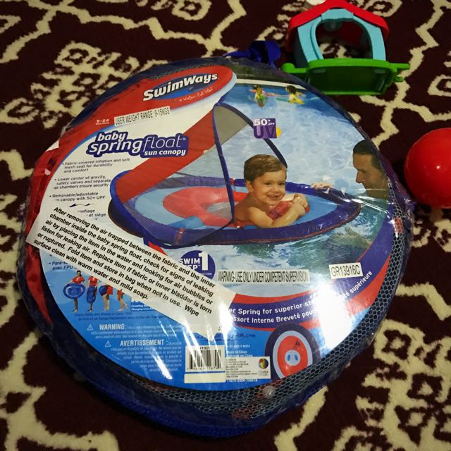 photo photo ... & SwimWays Baby Spring Float with Sun Canopy Babies u0026 Kids Others on ...