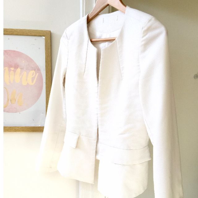 Sz 12 White blazer - great for work