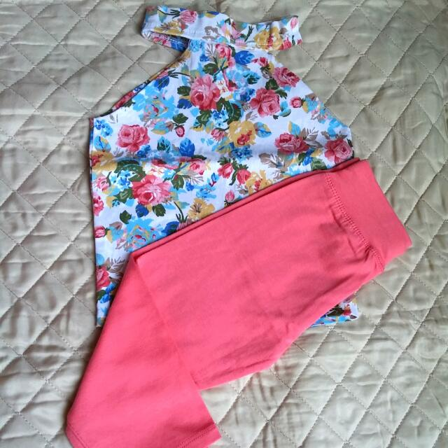 Terno Floral Halter With Leggings