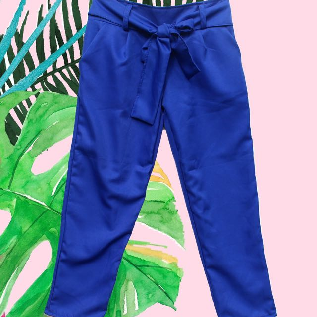 Tie-up trousers