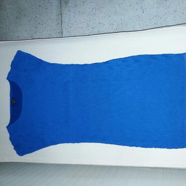 Viceversa Brand Royal Blue Chiffon Dress