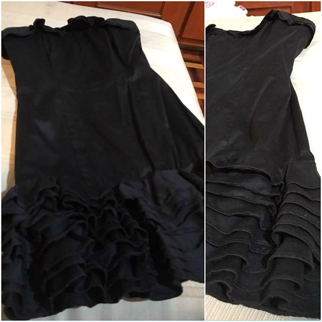 Warehouse black tube dress