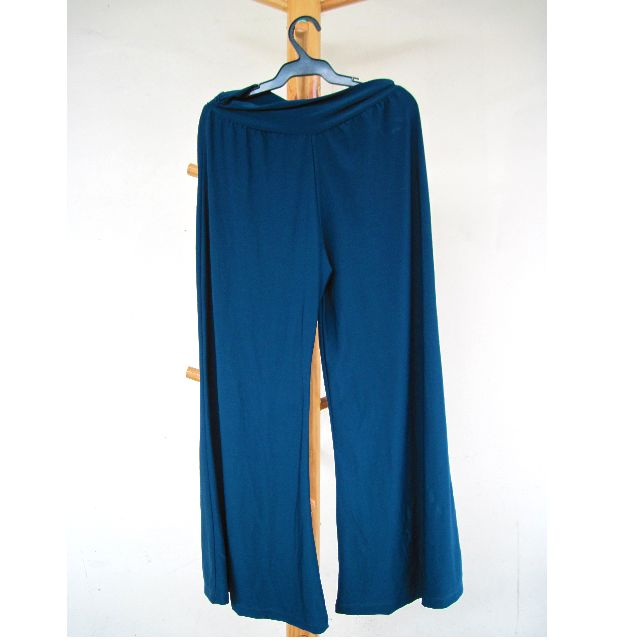 Wide Leg Pants / Pajama Pants High Waist (Satin)
