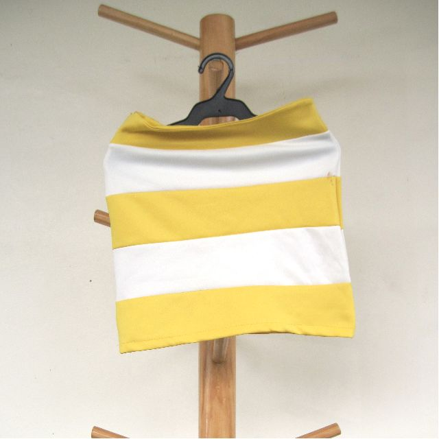 Yellow and White Horizontal Stripes Skirt RESERVED UNTIL APRIL 26