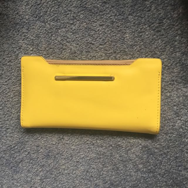 Yellow H&M Wallet