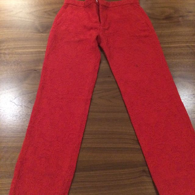 Zara Red Long Pants