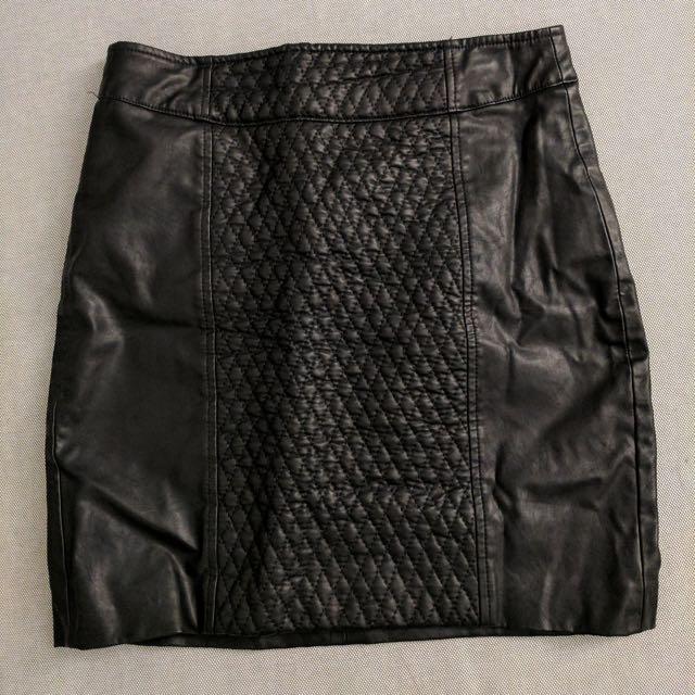 ZARA Trafaluc Faux-leather Mini Skirt