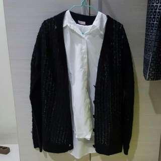 Black Knit Outerwear