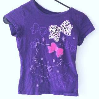 Purple Hello Kitty Shirt Size 10-12
