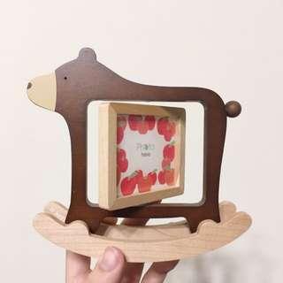 木製搖搖熊相框