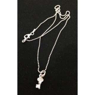 PRELOVED Perlini's Silver Necklace (Key)