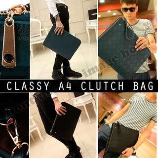 Classy A4 Clutch Bag / Document Bag