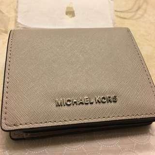 MK 淺金色 米灰色 短夾
