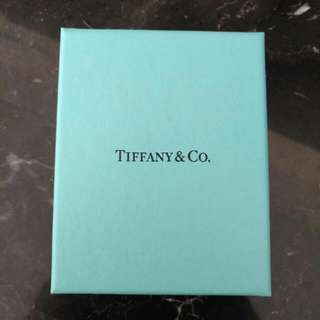 Genuine Tiffany Heart Band Ring - Sterling Silver