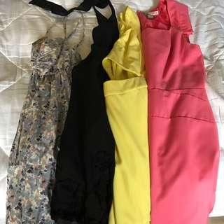 LOT of 4 Summer Dresses