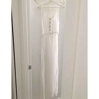 Never Worn: Sheer Lace Beach Maxi