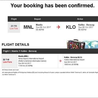 ✈️MANILA To BORACAY Airplane Tickets