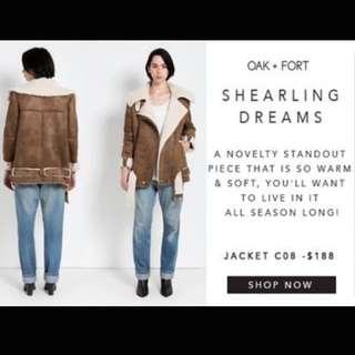 Oak and Fort Shearling Coat