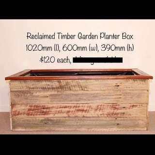 Reclaimed Timber Garden Box
