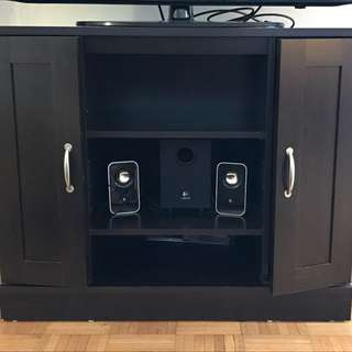 Tv Stand With Storage Shelves