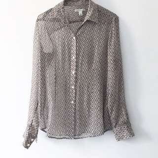 Banana Republic Chiffon Print Blouse