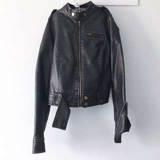 Forever 21 Faux Metallic Leather Jacket