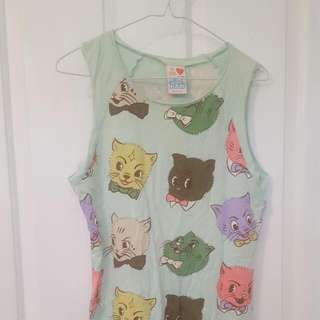 Drop Dead Evil Kitty Cat Thirteen Style Dress or Tunic