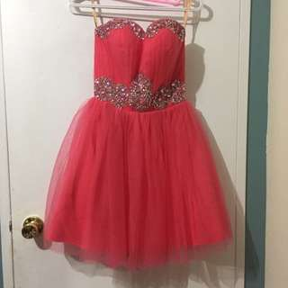 Coral Cocktail Dress