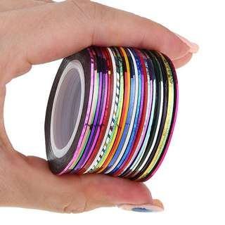 30PCS NAIL ART DECORATION STRIPING TAPE