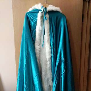 Teal Winter Robe With Hood