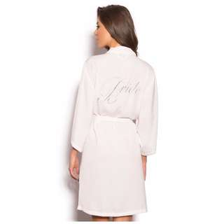 Bras N Things Bride to be ivory wrap dressing gown size Small Size 8
