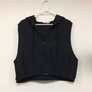 Black Cropped Vest