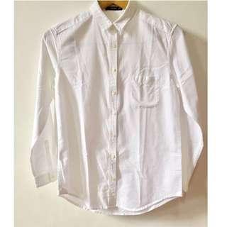 MANGO Chest-Pocket Cotton Shirt