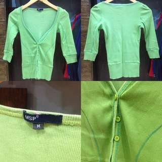CARDIGAN GREEN SOFT