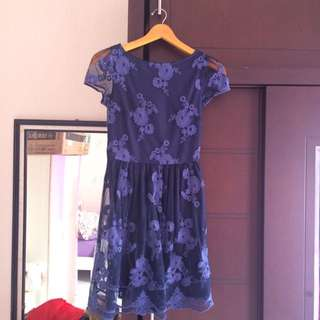 Dress Flower Payette Blue