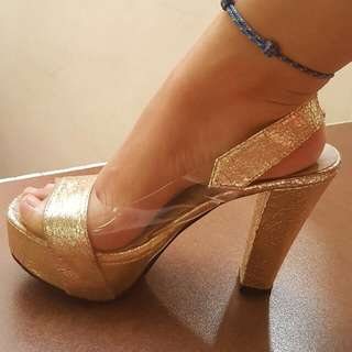 Party Gold Heels