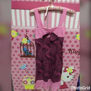 Abstract Pink Dress