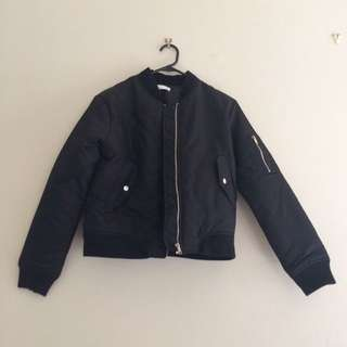 Kookai Black Bomber Jacket New