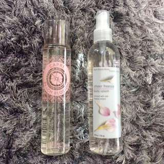 Victoria's Secret Capri Body Mist and Bath & Body Works Sheer Freesia