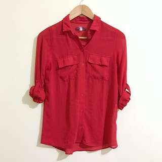Bershka red shirt