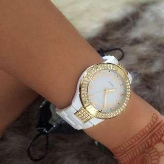 GUESS women's 2 Tone Watch