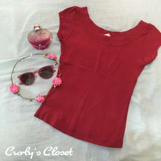 Red Body Fit Top