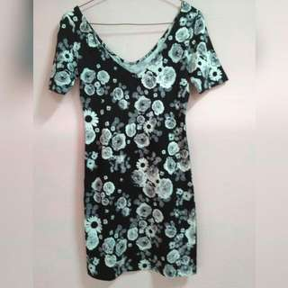 HnM Black Flowers Dress