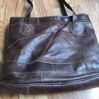 Reprice!! Leather Tote Bag ( No Brand )